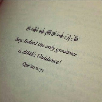 Allah's guidance