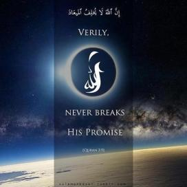 Allah never breaks His promise