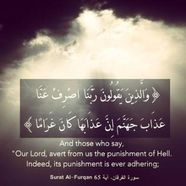 Avert from us the punishment of Hell