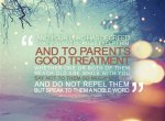 Be good to your parents
