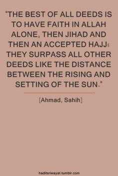 Hadith: Best of deeds