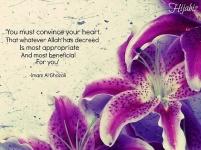Wisdom: Convince your heart