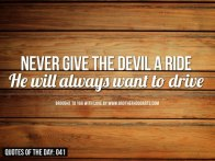Devil wants to drive