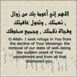 Duaa: I seek refuge in You
