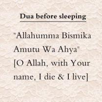 Duaa: To say before sleeping