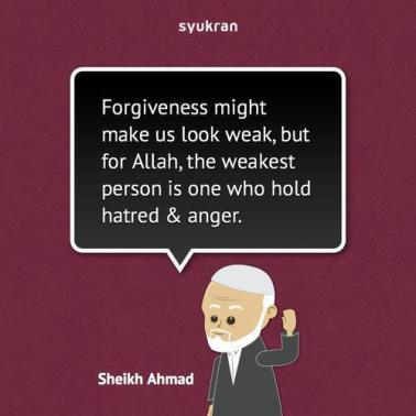 Forgiveness is not weakness
