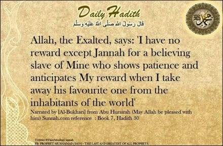 Hadith: Jannah for the believer