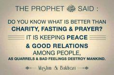 Hadith: Keep the peace
