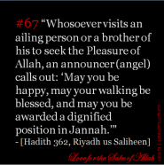 Hadith: Visiting a brother