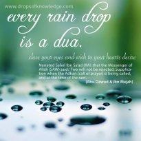 Hadith: Raindrops and Athan