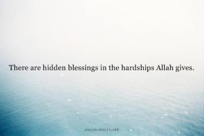 Inspiration: Hidden blessings