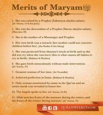 Inspiration: Merits of Maryam