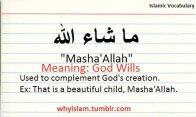 Islamic Vocabulary: Mashallah