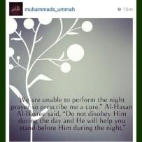 Wisdom: Prayer at night