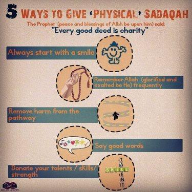 5 ways to give Sadaka