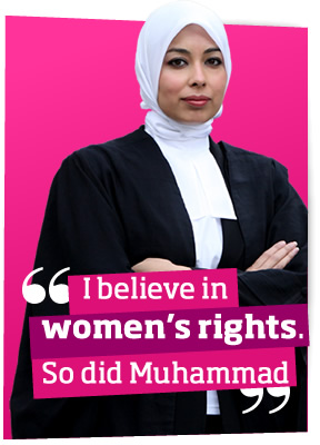 I believe in women's rights so did Mohammed (PBUH)