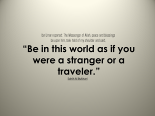 Hadith: Stranger
