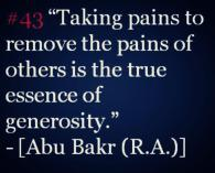 Wisdom: Abu Bakr (RA)