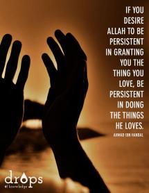 Wisdom: Ahmad Ibn Hanbal and persistence