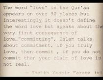 Wisdom: Sheikh Yassir and love in the quran