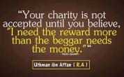 Wisdom: Uthman Ibn Affan and charity