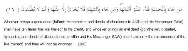 Surat Al Anaam 6: Ayah 160