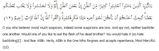 Surat Al-Hujraat 49: Ayah 12