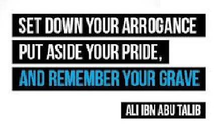 Put aside your pride