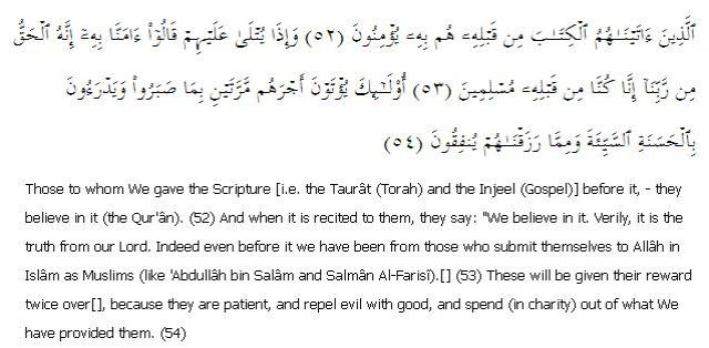 Surat Al-Qasas 28: Ayah 52 - 54